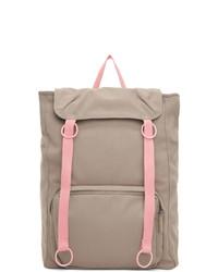 Raf Simons Grey And Pink Eastpak Edition Topload Loop Backpack