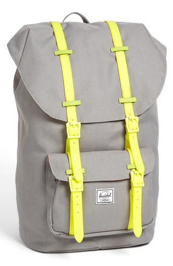 ... Canvas Backpacks Herschel Supply Co. Little America Backpack Grey  Yellow None d356690043