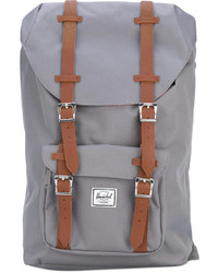 Herschel Supply Co Leather Trimmed Canvas Backpack