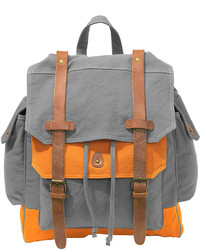 Asstd National Brand Two Tone Canvas Backpack