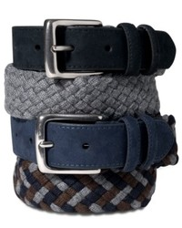 Tommy Hilfiger Belt Wool Braided Faux Suede