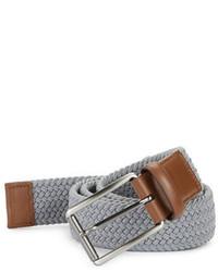 Perry Ellis Woven Leather Trim Belt