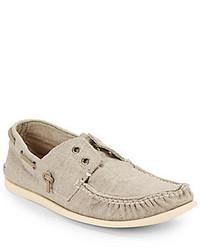 John Varvatos Schooner Canvas Boat Shoes