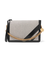Givenchy Gv Cross Med Canvas And Textured Leather Shoulder Bag