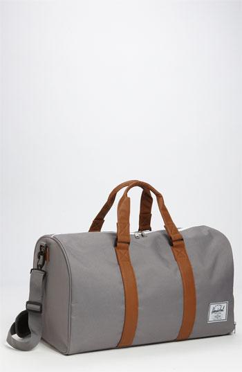 8e6a4c4453 Grey Canvas Duffle Bags Herschel Supply Co. Novel Duffel Bag Grey Tan One  Size