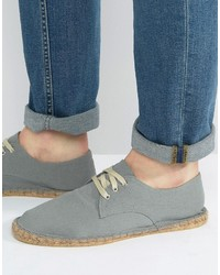 Derby espadrilles in gray canvas medium 3706680