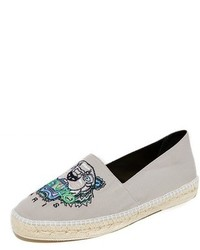 Kenzo Slit Tiger Head Canvas Espadrilles