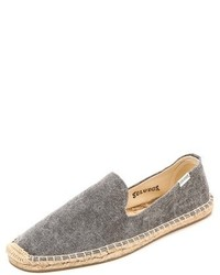 Washed canvas smoking slippers medium 263115