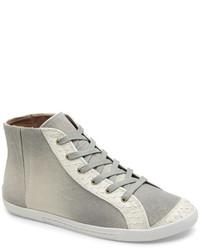 Joie Grey Daria Ombr High Top Sneakers
