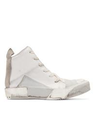 Boris Bidjan Saberi Grey Kangaroo High Top Sneakers