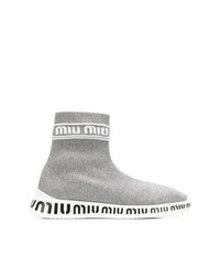 Miu Miu Knit Hi Top Sneakers