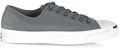b474f9d0fd66 COM › Converse › Grey Canvas Low Top Sneakers Converse Jack Purcell Canvas  Sneakers ...