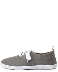 Charlotte Russe Lace Up Canvas Sneakers