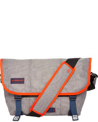 Grey Canvas Messenger Bag
