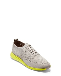 Grey Canvas Oxford Shoes