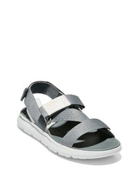 Grey Canvas Sandals