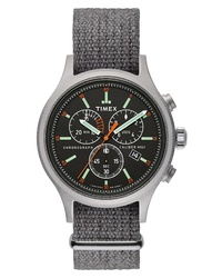 Grey Canvas Watch