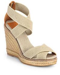 Tory Burch Adonis Crisscross Espadrille Wedge Sandals