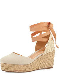 Caysey jutecanvas espadrille wedge natural medium 81307