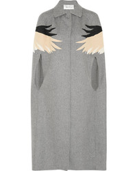 Valentino Appliqud Wool Blend Felt Cape