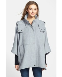 DKNY Blythe Hooded Wool Blend Cape