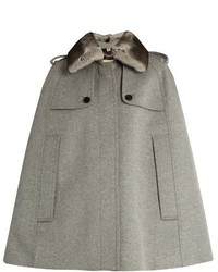 Burberry London Wolseley Wool And Cashmere Blend Cape