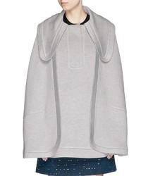 Chloé Chlo Oversize Collar Jersey Cape Coat