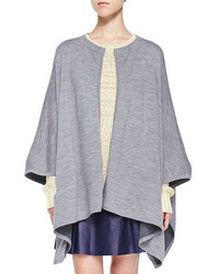 Vince Double Face Merino Cape Medium Heather Gray