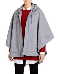 Burberry Embroidered Hooded Poncho