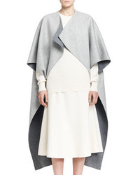 The Row Noden Two Tone Wool Cape