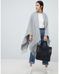 ASOS DESIGN Plain Cape In Grey