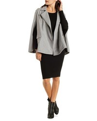 Charlotte Russe Renamed Zipper Trim Moto Cape Coat