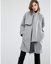 Warehouse Scarf Cape Coat
