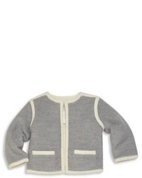 Burberry Babys Mikey Merino Wool Cotton Cardigan