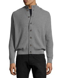 Luciano Barbera Button Front Cashmere Sweater Cardigan Green