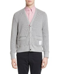 Thom Browne Button Side V Neck Cardigan