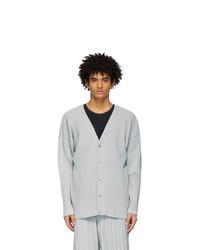 Homme Plissé Issey Miyake Grey Basics Cardigan