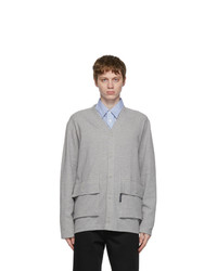 Comme des Garcons Homme Grey Double Faced Cardigan