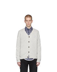 Acne Studios Grey Keve Face Cardigan