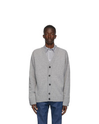 Opening Ceremony Grey Wool And Cashmere Cardigan