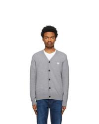 Acne Studios Grey Wool Patch Cardigan