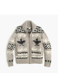 J.Crew Kids Wool Shawl Zip Cardigan Sweater
