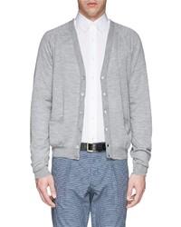 Canali Open Knit Wool Cardigan