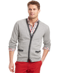 Izod Sweater Lightweight Fine Gauge Button Cardigan Sweater