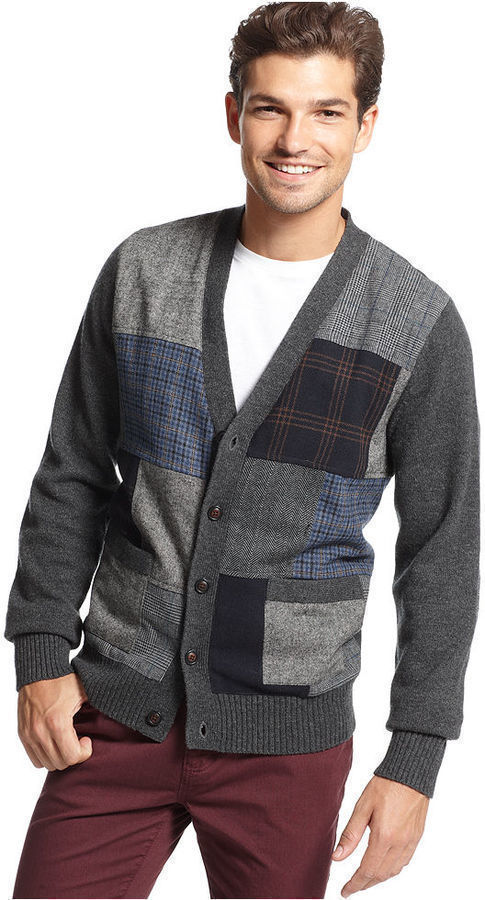 Tommy Hilfiger Sweater Patchwork Buttondown Cardigan   Where to ...