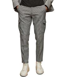 Topman Check Skinny Cargo Trousers