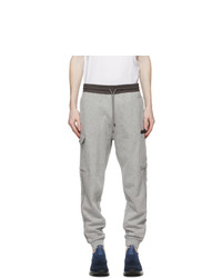 Z Zegna Grey Cotton Cargo Pants