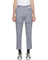 Dolce & Gabbana Grey Street Patchwork Cotton Cargo Pants