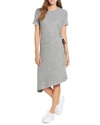 TDC Asymmetrical Side Lace Up Dress