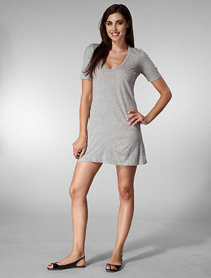 cc0138b535 ... American Apparel Cotton Fine Jersey Short Sleeve Crew Neck T Shirt Dress  ...